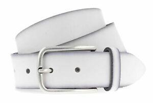 Vanzetti Denim Love 35mm Full Leather Belt W85 Gürtel Accessoire White