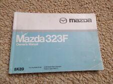 MAZDA 323F 1.5 1.8 2.0 V6  OWNERS MANUAL HANDBOOK PACK PRINTED 1998  CLASSIC