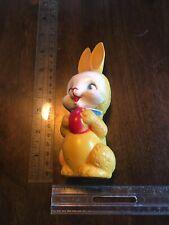Vintage Yellow Irwin Squeaky Rubber Rabbit Toy