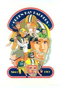 """GREEN BAY PACKERS"" (1968) *NFL FOOTBALL POSTER*- Original *MINT* Vince Lombardi"