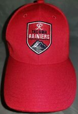 New listing Tacoma Raniers Adjustable Baseball Cap Hat Minor League Red with Black & White
