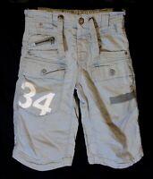 Boys Next Light Grey Linen Blend Adjustable Waist Cargo Board Shorts Age 4 Years