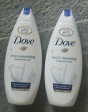 Dove deeply nourishing body wash x2 bottles 250mls