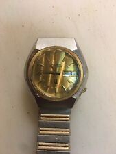 Gents Accutrone Wrist Watch running Two tone case 2193.10 movement Speidel  band