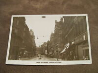 Early real photo postcard - New street retailer scene - Birmingham