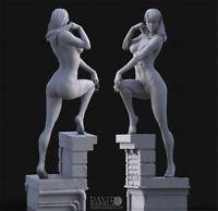 Spider Gwen Unpainted Resin Kits Model GK Figurine Statue 3D Print 1/6 35cm New