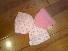 NWT 3 INFANT GIRLS PINK HATS CAPS BY OKIE DOKIE 1 HAS ELEPHANTS NB - 6 MONTHS