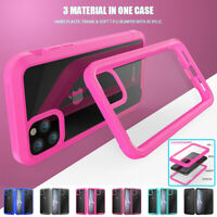 Clear Hybrid Shockproof Bumper Case For iPhone 12 11 Pro Max Mini XS XR 7 8 Plus