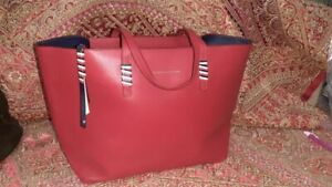 Tommy Hilfiger Smoother leather Tote bag Red