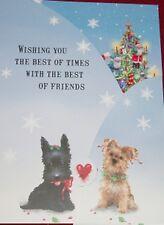12 Christmas Cards TriFold Puppies Scottie Dalmatian Yorkie Dashund