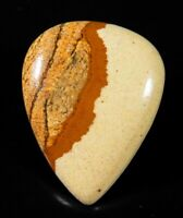 36Ct Natural Desert Mountain American Picture Jasper Pear Cabochon Gemstone A273