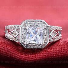Princess Excellent Cut White Gold VVS1 Fine Diamond Rings