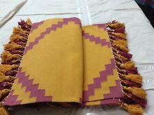 Vintage 5.2 X 3 Feet Ikat Handmade Cotton Area Rug Carpet, Kilim Rug