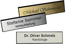 Namensschilder incl.Gravur, Facette, Magnet oder Nadel  silber- oder goldfarbig