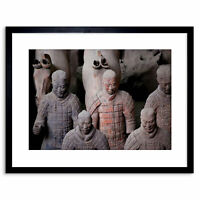 Photo Modern Terracotta Army China Warrior Framed Print 9x7 Inch