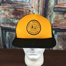 5 Panel Mesh Snapback Trucker Hat Blk Yellow Video Industrial Services