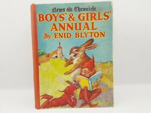 """BOYS' & GIRLS' ANNUAL - Blyton, Enid. Illus. by Aris, Ernest A. & Nixon, Kathe"""