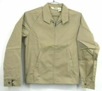Vintage NOS Key Imperial Mens Small Tan Full Zip Up Lightweight Casual Jacket
