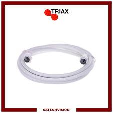 Cordon Câble Coaxial TV Connecteurs IEC 9,52 mm Mâle/Femelle 2,5 m Triax CTV 250