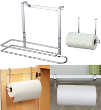 Kitchen Paper Towel Roll Holder Under Shelf Over Cabinet Storage Dispenser Rack