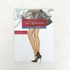 New Hanes Silk Reflection Silky Sheer Pantyhose Size EF Barely There Control Top