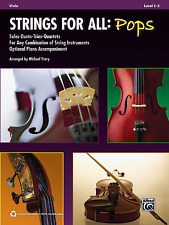 """Strings for All: POPS """"VIOLA"""" SOLOS/DUETS/TRIOS/QUARTETS MUSIC BOOK-NEW ON SALE!"""