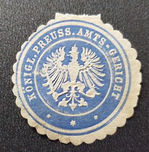 Siegelmarke Vignette Königl. Preuss. Amts-Gericht (7680-3)