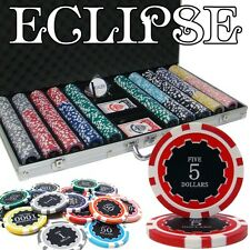 New 750 Eclipse 14g Clay Poker Chips Set with Aluminum Case - Pick Chips!