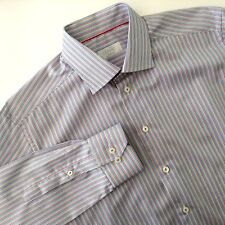 Eton of Sweden Luxury Shirt Contemporary Fit Stripe Mult Color  Size 41 16