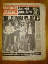 MELODY MAKER 1974 OCT 19 BAD COMPANY ELTON JETHRO TULL