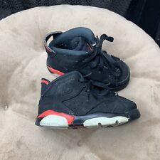 Nike Air Jordan 6 VI Sz 6C Retro Black Infrared Toddler Sneakers 384667-060