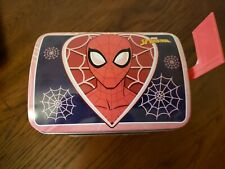 Marvel Spiderman Valentine's Day Tin Mail Box ~ Used