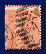 1867 SG94 4d Vermilion Plate 9 J56 *MISPERF LB London CDS 30 MY 68 Cat £90 ccte