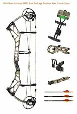 New 2016 Bear Archery BR33 45-60# RH Compound Bow Package Realtree Xtra Green