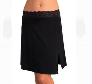 "Vassarette 24"" Half Slip Adjustable Waist Size XXL Black Style 11073 NEW"