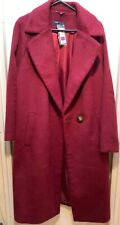 Marks and spencer ladies New Wool Coat/Jacket  UK SIZE 18. WINE/RED