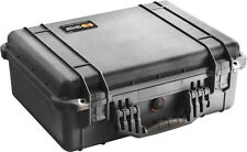 New Black Pelican 1520 Case with foam includes Free Engraved Nameplate