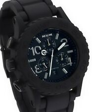 Nixon Black Silicon Strap Black Dial Women Watch A309000