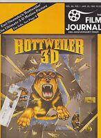 JAN 28 1983 THE FILM JOURNAL vintage movie magazine ROTTWEILER 3-D