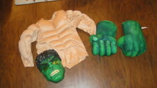 THE INCREDIBLE HULK COSTUME SMASH SOUND HANDS MASK MUSCLE CHEST 4/5/6