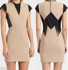 NWT Cut 25 by Yigal Azrouel Leather Trim Ponte Dress Size 4