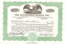 The Advertising People > Pennsylvania stock certificate share scripophily