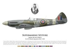 Print Spitfire Mk XIV, F/S de Vries, No 322 (Dutch) Squadron RAF (by G. Marie)