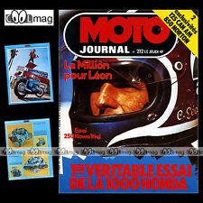 MOTO JOURNAL N°212 CAN AM 125 KAWASAKI KT 250 TROPHEE MILLION PATRICK PONS 1975