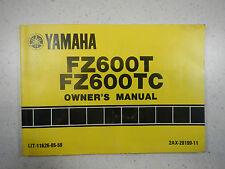 87 YAMAHA FZ600 NOS OEM ORIGINAL DRIVER'S OWNER'S RIDER'S MANUAL FZ 600 FZ600T
