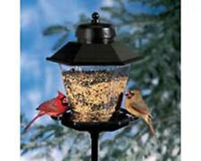 bird feeder coach lamp+6 ft steel mount pole holds 11 lbs seed Artline6200
