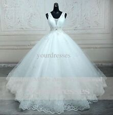 New white ivory Wedding Dress Bridal Gown custom size 4 6 8 10 12 14 16 18 20 22