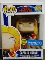 Funko Pop Marvel Captain Marvel #432 GLOWS IN THE DARK! Walmart Exclusive! 🔥🔥