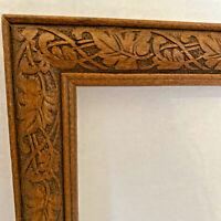 Walnut Art Nouveau Style Picture/ Painting Frame - Acorn Leaves Craved Design