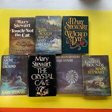 Mary Stewart Set of 7 Hardcover Dust Jacket HC/DJ BCE Book Club Editions